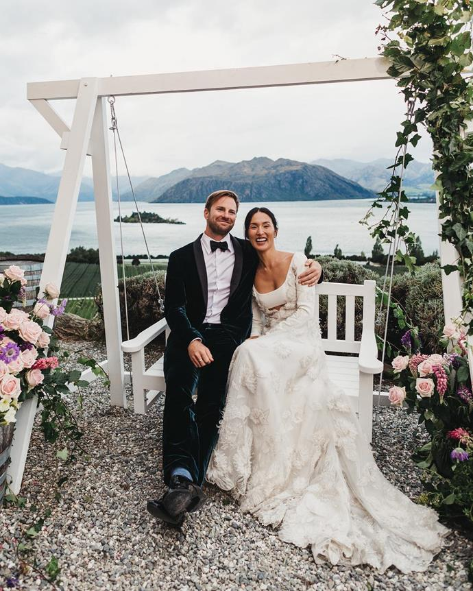 """**Nicole Warne in Valentino Haute Couture (2018)** <br><br> Australian fashion influencer [Nicole Warne](https://www.harpersbazaar.com.au/beauty/nicole-warne-wedding-beauty-preparation-16248