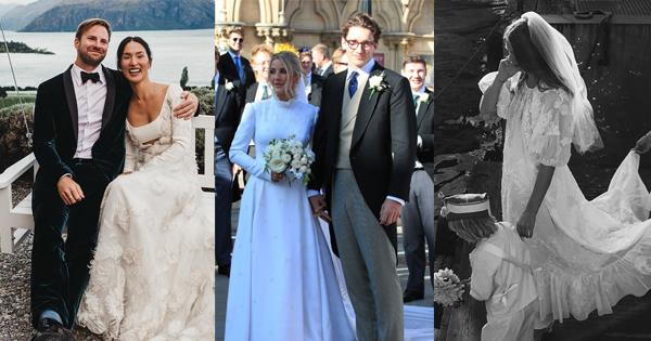 14 Celebrity Wedding Gowns That Are Everyone's Cup Of Tea