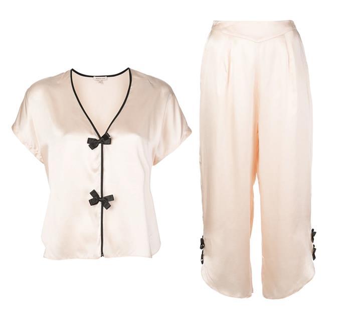 "Morgan Lane's hyper-feminine designs and ladylike details will bring joy to workdays. <br><br> *[Pyjama top](https://www.farfetch.com/au/shopping/women/morgan-lane-joanie-top-item-14967614.aspx?storeid=10745&rtype=inspire_portal_pdp_generic_b&rpos=1&rid=16f6d7de-46c3-46f7-a03f-d10570f34040 target=""_blank"" rel=""nofollow""), $396 and [trousers](https://www.farfetch.com/au/shopping/women/morgan-lane-margo-trousers-item-14967623.aspx?storeid=10745 target=""_blank"" rel=""nofollow""), $515 by Morgan Lane at Farfetch*"
