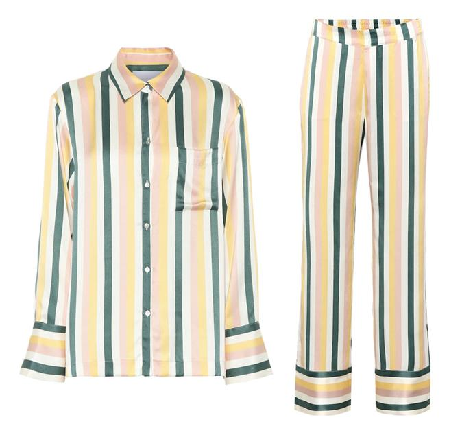 """Pyjama dressing 101: Asceno's classically printed separates are always in style. <br><br> *[Silk pyjama top](https://www.mytheresa.com/en-au/asceno-silk-pajama-top-1139428.html target=""""_blank"""" rel=""""nofollow""""), $419 and [pants](https://www.mytheresa.com/en-au/asceno-silk-pajama-bottoms-1139432.html target=""""_blank"""" rel=""""nofollow""""), $375 by Asceno at My Theresa*"""