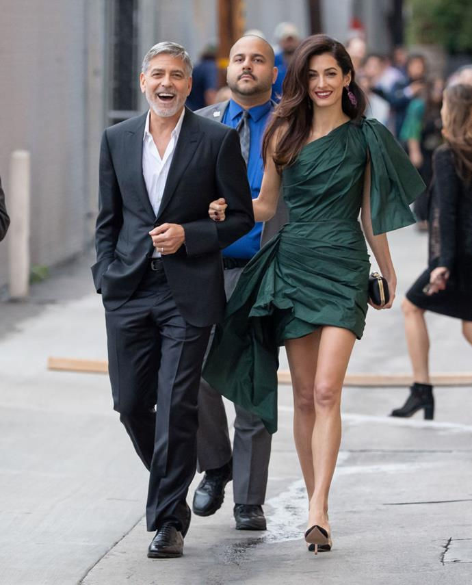 """**George and Amal Clooney**<br><br>  George Clooney's proposal to esteemed barrister (and [fashion icon](https://www.harpersbazaar.com.au/fashion/amal-clooney-office-outfits-16617