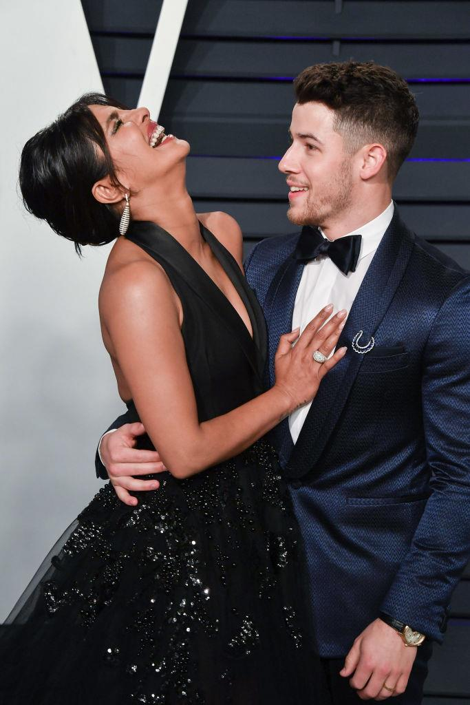 """**Nick Jonas and Priyanka Chopra**<br><br>  The Bollywood star and Jonas Brothers singer not only had an [adorable 'how they met' story](https://www.elle.com.au/celebrity/celebrities-how-they-met-23135