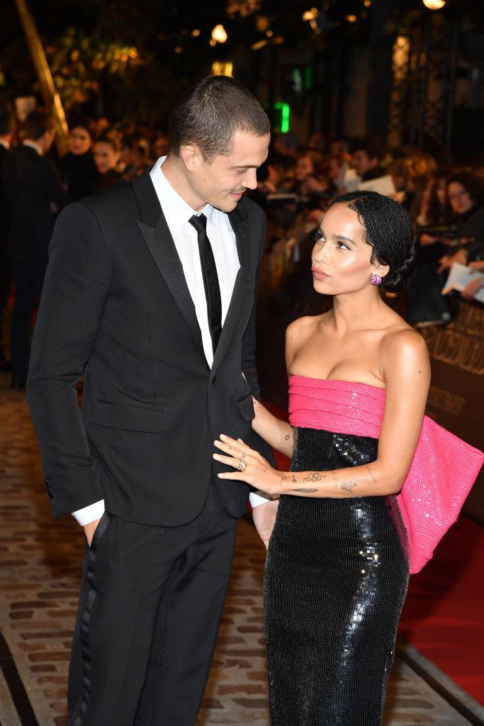 """**Zoë Kravitz and Karl Glusman**<br><br>  After seeing photos of their wedding—featuring matching leather jackets, held in a rockstar's Parisian mansion and where the bride wore bike shorts to the rehearsal dinner—it makes sense that [Karl Glusman's proposal to Zoë Kravitz](https://www.elle.com.au/celebrity/karl-glusman-zoe-kravitz-proposal-23246