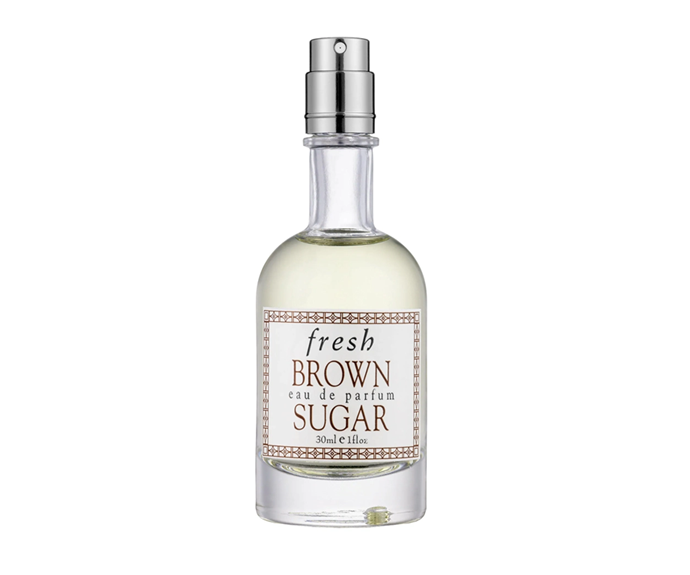 """**Brown Sugar EDP by Fresh, $72 at [Sephora](https://www.sephora.com.au/products/fresh-brown-sugar-eau-de-parfum/v/30ml?dxid=CjwKCAjwg6b0BRBMEiwANd1_SDK3shQH3oBElRY72N5v6BazImzSebsTgnRoA_sCAUUOn_jGxFLbjRoCup4QAvD_BwE&dxgaid=CjwKCAjwg6b0BRBMEiwANd1_SDK3shQH3oBElRY72N5v6BazImzSebsTgnRoA_sCAUUOn_jGxFLbjRoCup4QAvD_BwE&gclid=CjwKCAjwg6b0BRBMEiwANd1_SDK3shQH3oBElRY72N5v6BazImzSebsTgnRoA_sCAUUOn_jGxFLbjRoCup4QAvD_BwE