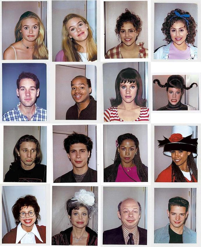 "The cast of *Clueless* (including Alicia Silverstone, Brittany Murphy, Stacey Dash and Paul Rudd) on set in 1994. <br><br> *Image: Instagram [@ourgoldenage](https://www.instagram.com/p/B3GBvgRAUaZ|target=""_blank""