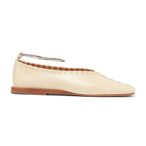 """Whipstitched Square-Toe Leather Ballet Flats by Jil Sander, $750 at [MATCHESFASHION.COM](https://www.matchesfashion.com/au/products/Jil-Sander-Whipstitched-square-toe-leather-ballet-flats-1317208