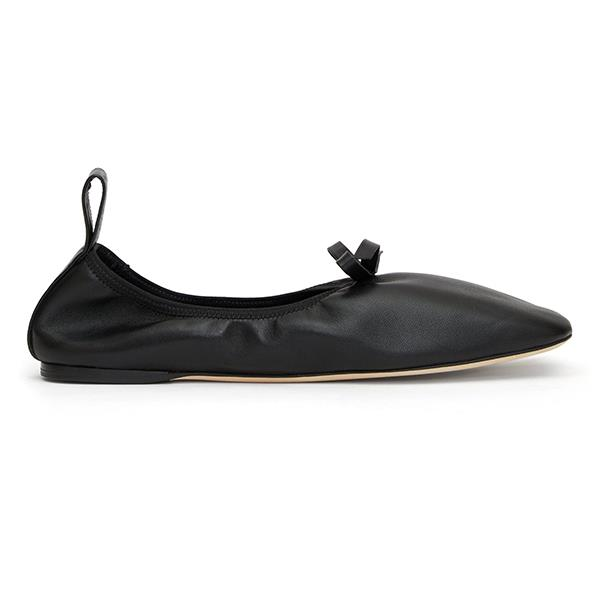 """Square-Toe Elasticated Leather Ballet Flats by LOEWE, $855 at [MATCHESFASHION.COM](https://www.matchesfashion.com/au/products/Loewe-Square-toe-elasticated-leather-ballet-flats--1316183