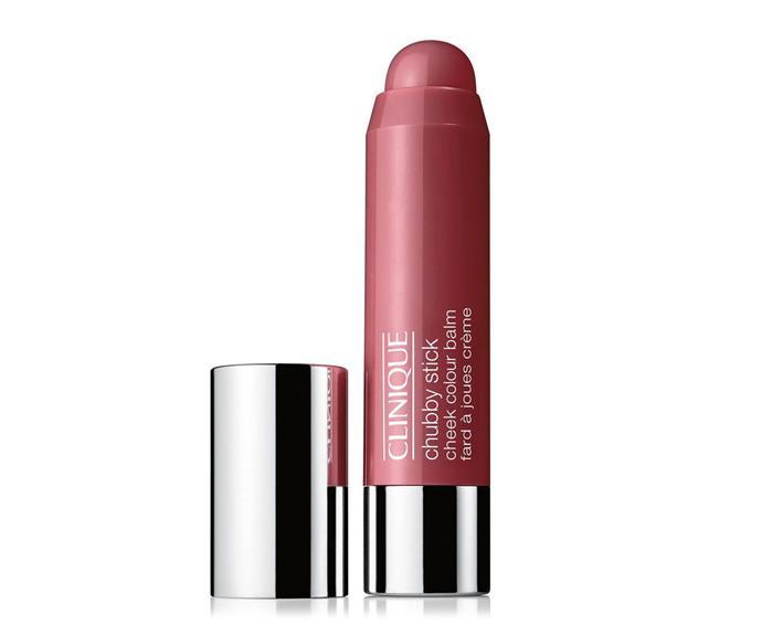 "Clinique Chubby Stick Moisturising Cheek Colour Balm, $42 at [Myer](https://www.myer.com.au/p/clinique-chubby-stick-moisturising-cheek-colour-balm|target=""_blank""|rel=""nofollow"")"