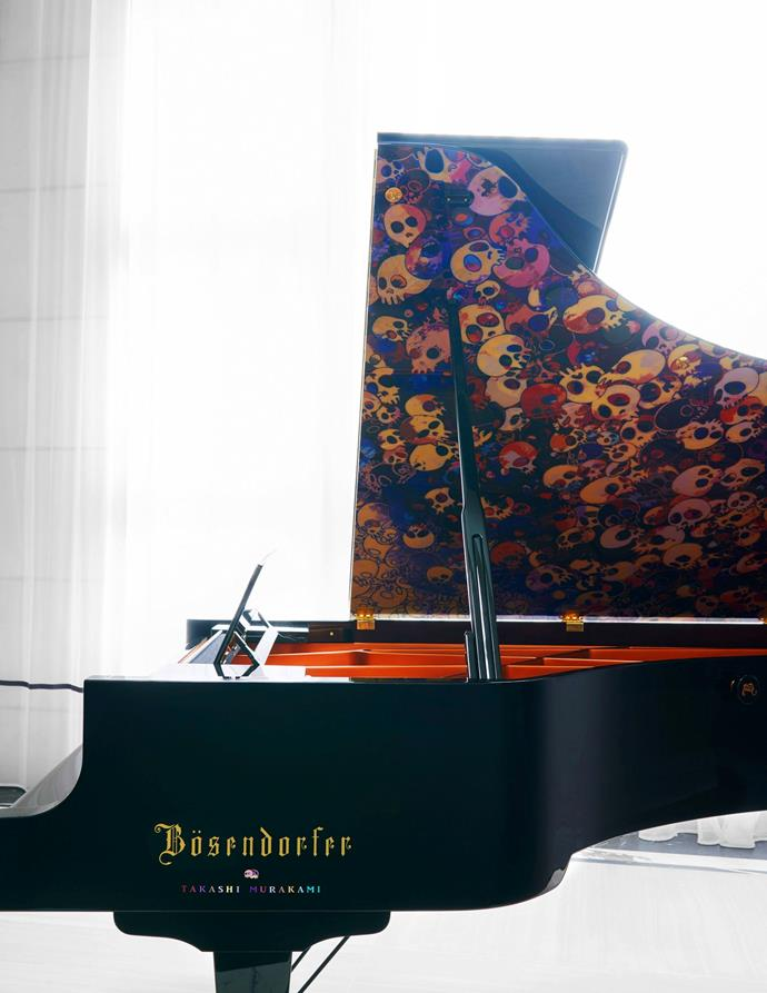 "A closer look at Graham's bespoke Bösendorfer grand piano. <br><br> *Image by Jason Schmidt for [Architectural Digest.](https://www.architecturaldigest.com/story/inside-rapper-drakes-hometown-manor-in-toronto|target=""_blank""
