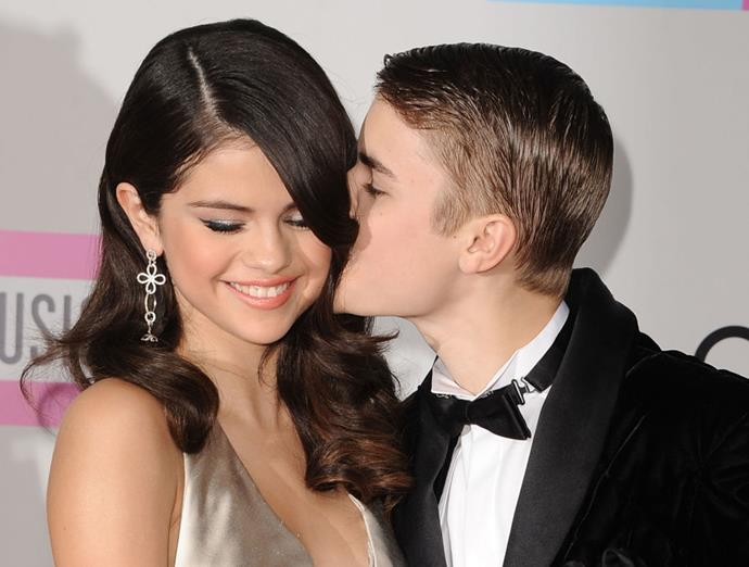 Gomez with Justin Bieber in 2011.