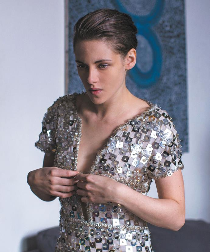***Personal Shopper* (2017)** <br><br> As the title suggests, real-life Chanel muse Kristen Stewart played a 'personal shopper' to Parisian elites in 2017's bone-chilling *Personal Shopper*. But while Stewart's character's day job ends up having little to do with the film's plot, there are more than a handful of flawless fashion moments, not limited to this shimmery silver metallic Chanel number.