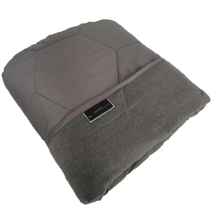 "**The Heat Controlled Blanket** <br><br> If your anxiety isn't deterred by a weather change, this Neptune blanket is made of both Graphene (the strongest material known to exist) and organic bamboo so its suitable for all four seasons. <br><br> *Weighted Blanket II Carbon Edition, $239 at [Neptune Blanket](https://www.neptuneblanket.com.au/collections/blankets/products/weighted-blanket-ii-carbon|target=""_blank""