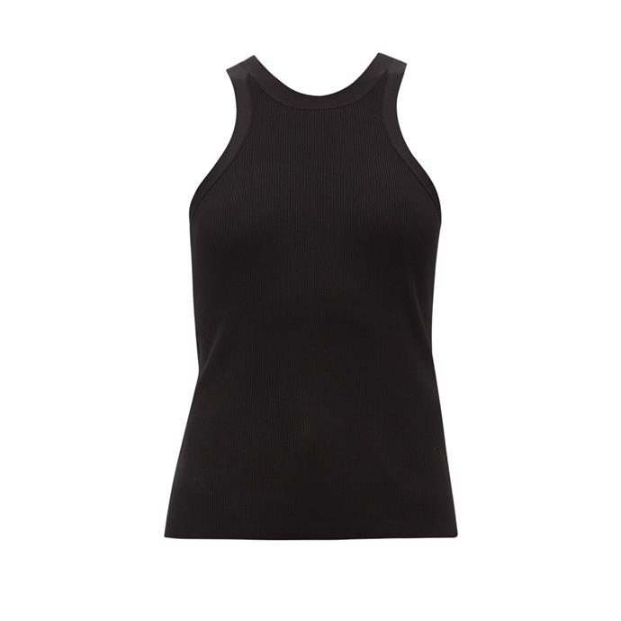 """**The wear-forever singlet** <br><br> There's a reason Totême's iconic fitted tank tops have garnered a cult following—they're just as comfy and wearable as they are chic and flattering. If you're over wearing baggy tees around the house, we'd suggest stocking up. <br><br> *'Espera' ribbed tank top by Totême, $251 at [MATCHESFASHION.COM](https://fave.co/2xxOM0x
