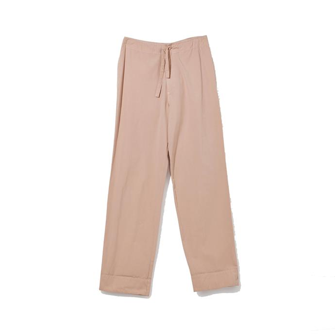 """**Comfy trousers that aren't tracksuit pants** <br><br> While we're confined to our homes for an indefinite period of time, it's hard to escape the temptation to wear tracksuit pants 24/7. Thankfully, there's always a middle ground—in this case, by way of Aussie brand Bassike's slouchy-chic canvas pants. <br><br> *Canvas bind detail pants in blush by Bassike, $120 at [Bassike](https://www.bassike.com/collections/women-relaxed-pants/products/canvas-bind-detail-pant-r20wfb03-blush