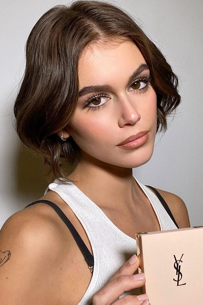 "Since the model cut her long brunette hair, [Kaia's short bob](https://www.harpersbazaar.com.au/beauty/kaia-gerber-short-bob-19698|target=""_blank"") has become quite iconic."