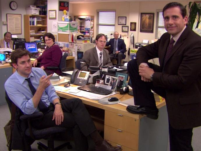 **5.** ***The Office***<br><br>  How could the most meme-able show of all time not make it on to this list? From Jim to Pam, to Michael and Dwight, just thinking of these beloved characters and this endlessly watchable show has us conjuring classic lines in our head. Plus, with many of us unable to go to our own offices, watching this crew has almost become a form of FOMO replacement therapy!
