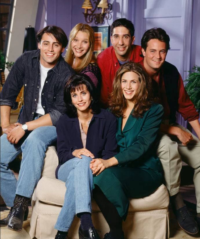 "**1.** ***Friends***<br><br>  Frankly, this isn't even an opinion—this choice is practically *science*—with a past study revealing that [watching *Friends* re-runs is actually good for our anxiety](https://www.elle.com.au/culture/watching-friends-eases-anxiety-study-20632|target=""_blank"") (that's our story, and we're sticking with it). Do we even really need to explain why this globally loved series is in the top spot? Besides the fact that they will literally ""always be there for us"" (this is the kind of loyalty we need in our lives right now), everything about this show makes it the TV equivalent of [weighted blanket](https://www.elle.com.au/health-fitness/best-weighted-blankets-australia-23333