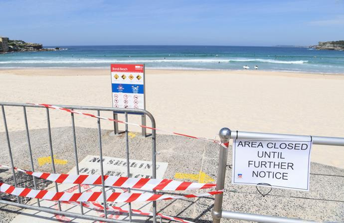 Bondi Beach on March 22, 2020, the day it was closed.