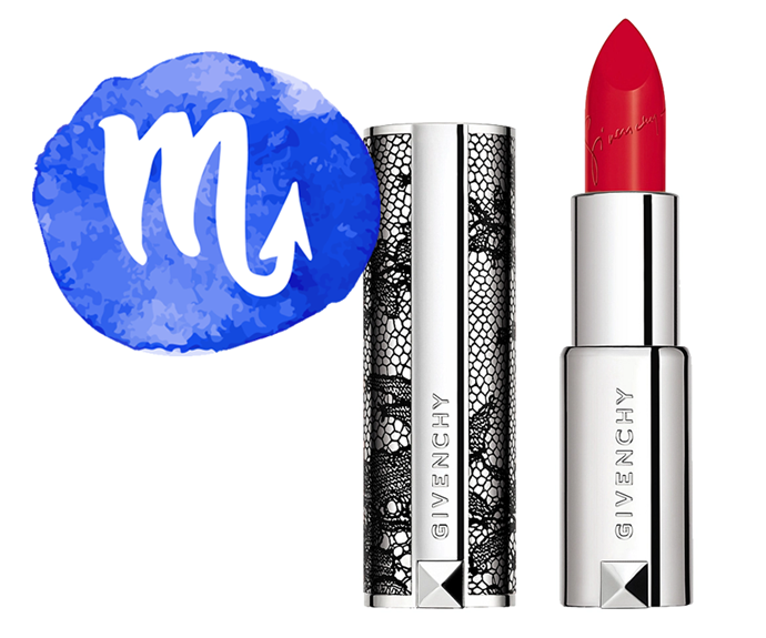 "**The sign: Scorpio<br></br> The product: Le Rouge Lipstick (Limited Edition Couture 2020) in Carmi Escarpin by Givenchy, $59 at [Sephora](https://www.sephora.com.au/products/givenchy-le-rouge-lipstick-limited-edition-couture-2020/v/306-carmin-escarpin|target=""_blank"")**<br></br> **The reason:** There's no way around it: Scorpio is the sultry sign (that devil's tail sits on the end of your zodiac icon for a reason, you know). Temptress status in mind, there are few products more fitting than a seductively sensual scarlet lippie. This red-hot formula is velvety, vibrant and impossible to forget, so we'll bet you'll be lusting after it years after its final swipe (fitting, seeing as that's how your exes all feel about you)."