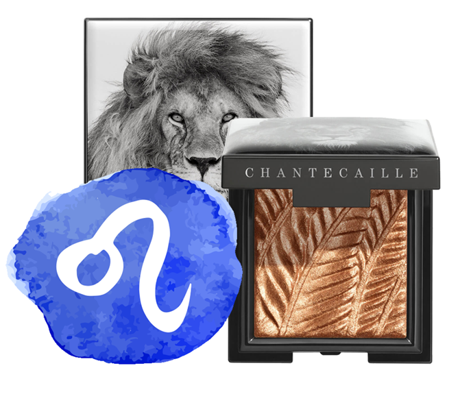 "**The sign: Leo<br></br> The product: Luminescent Eye Shade in Lion by Chantecaille, $83 at [MECCA](https://www.mecca.com.au/chantecaille/luminescent-eye-shade/V-041630.html#q=lion&start=1|target=""_blank"")**<br></br> **The reason:** Alright, this one doesn't take a genius—Leo is the lion sign. Also, who else but feisty Leos would view effervescent bronze eyeshadow as 'low key'? Exuberance is practically your middle name, so you'll stay home, but you'll look divine doing it. Nobody will see it? Not really an issue. As the self-appointed leader of every pack, your own opinion is the only one you *really* value anyway..."