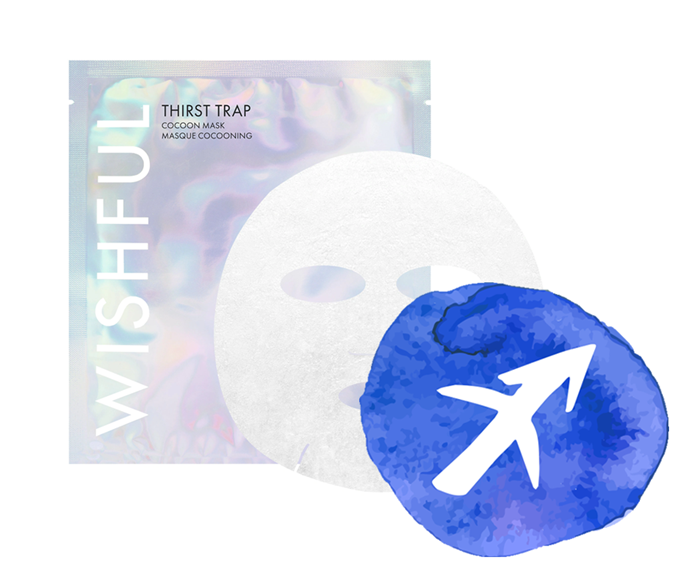 "**The sign: Sagittarius<br></br> The product: Thirst Trap Cocoon Mask by Wishful, $18 at [Sephora](https://www.sephora.com.au/products/wishful-thirst-trap-cocoon-mask/v/default|target=""_blank"")**<br></br> **The reason:** We're not calling you thirsty, Sag, but we're also not *not* saying it. Okay, we're totally saying it. But it's fine, your skin's thirsty too. So while your spotlight's dimmed (damn social distancing), cater to your complexion's need to be noticed with this coconut sheet mask. It's bound to satisfy both attention quotas: for your face, a hit of hydration, and for you, a legitimate reason to take selfies."