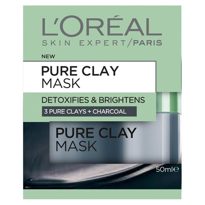"""**Pure Clay Mask: Detoxifying & Brightening Charcoal Mask 50 mL by L'ORÉAL PARIS, $19.99 at [Priceline](https://fave.co/3aw5UkK