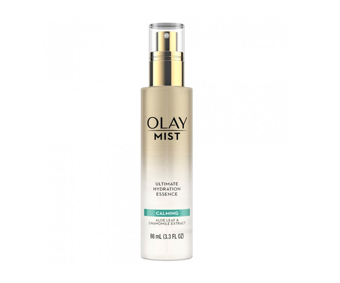 "**Calming Ultimate Hydration Essence Mist by Olay, $34.99 at [Priceline](https://www.priceline.com.au/olay-mist-calming-essence-niacinamide-aloe-vera-98-ml|target=""_blank"")**<br></br> One spritz of this soothing aloe scented spray and your senses will legitimately believe you've arrived at the salon/spa/skincare heaven."