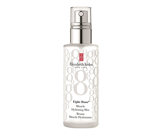 "**Eight Hour Miracle Hydrating Mist by Elizabeth Arden, $38 at [Adore Beauty](https://www.adorebeauty.com.au/elizabeth-arden/elizabeth-arden-eight-hour-miracle-hydrating-mist.html?istCompanyId=6e5a22db-9648-4be9-b321-72cfbea93443&istFeedId=686e45b5-4634-450f-baaf-c93acecca972&istItemId=witqxqqqw&istBid=tztx&gclid=CjwKCAjw4pT1BRBUEiwAm5QuR-YeIXHyzBA6G1tJxQd_ZC1UP2N7VjBw0RAtIpa79bqZ2nZmgkenORoCW1EQAvD_BwE|target=""_blank"")**<br></br> This spray delivers cooling, concentrated shots of moisture great for targeting specific sections of skin (*hi*, combo skin types)."