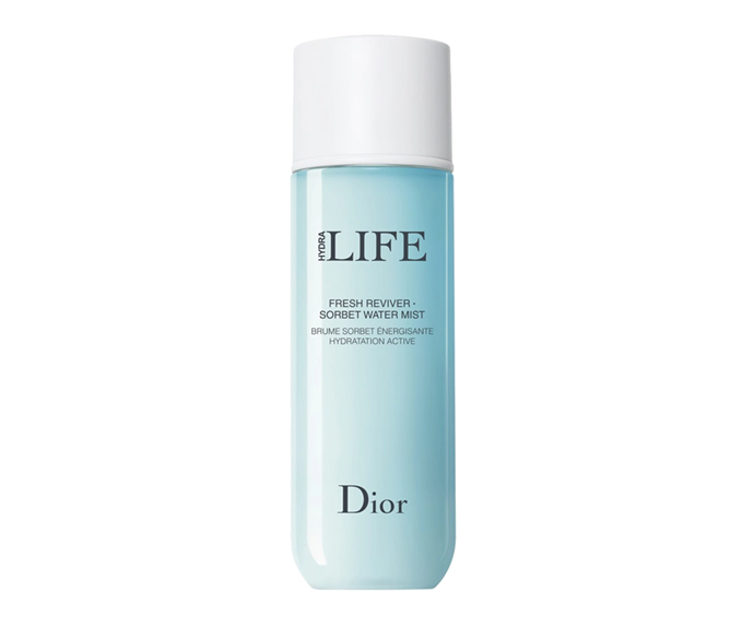 "**Hydra Life Sorbet Water Mist Spray by Dior, $62 at [Myer](https://www.myer.com.au/p/dior-hydra-life-fresh-reviver-sorbet-water-mist|target=""_blank"")**<br></br> Think a sorbet-inspired spritz sounds divine? Correct. The brightening vit-C and hydrating haberlea flower mix works wonders for glow."
