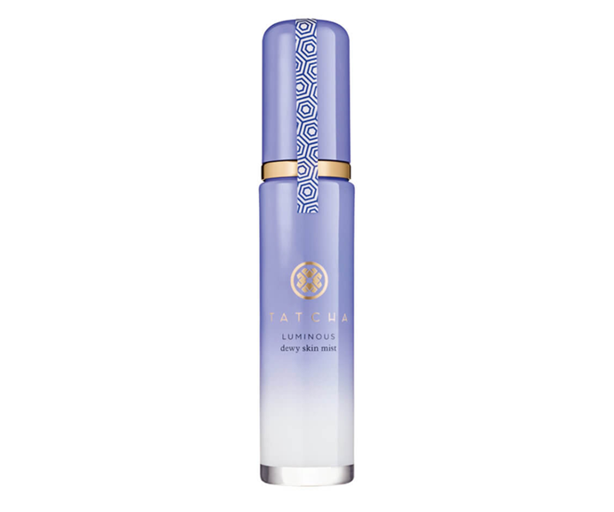 "**Luminous Dewy Skin Mist by Tatcha, $77 at [MECCA](https://www.mecca.com.au/tatcha/luminous-dewy-skin-mist/I-032390.html?cgpath=skincare-cleansertoner-toner|target=""_blank"")**<br></br> Formulated with Japanese botanical oils and hydrating red algae, this milky mist is 100 per cent deserving of its 'dewy' title."