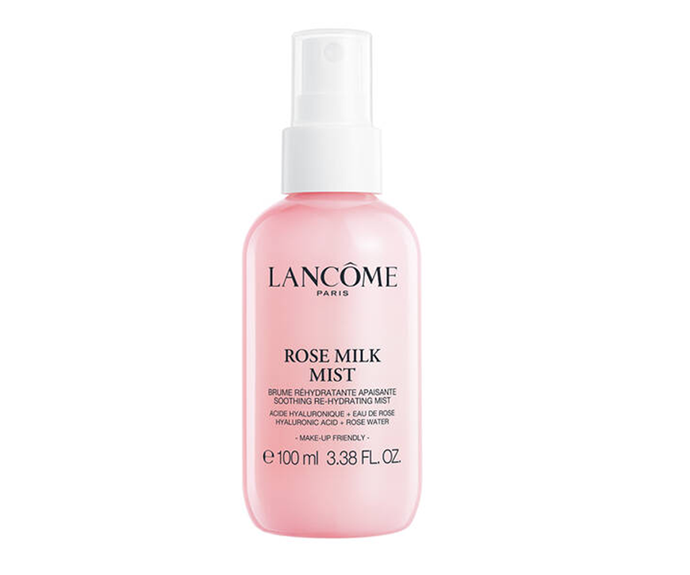 "**Rose Milk Mist, $39 by [Lancôme](https://www.lancome.com.au/skincare/category/cleansers-toners/rose-milk-mist/A01680-LAC.html#start=19&cgid=L3_Axe_Skincare_The_Cleansers_And_Toners|target=""_blank"")**<br> Prefer something with more substance? Try a milk mist. This gem is loaded with rose water, acacia honey and sweet almond oil."
