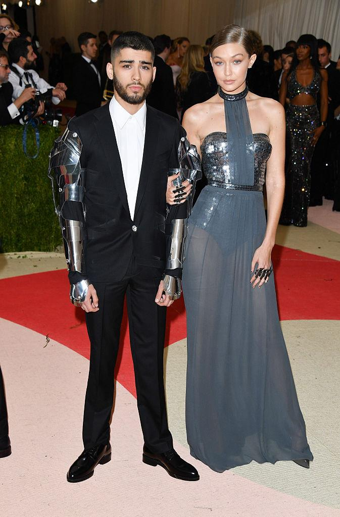 Malik and Hadid at the 2016 Met Gala.