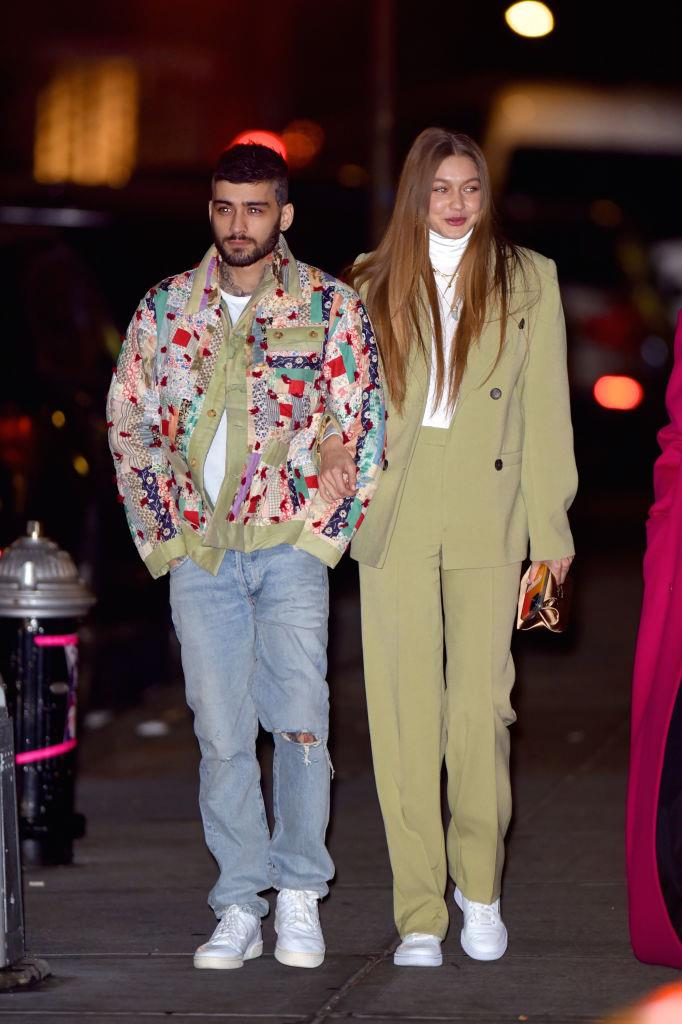 Malik and Hadid taking a stroll in New York in January 2020.