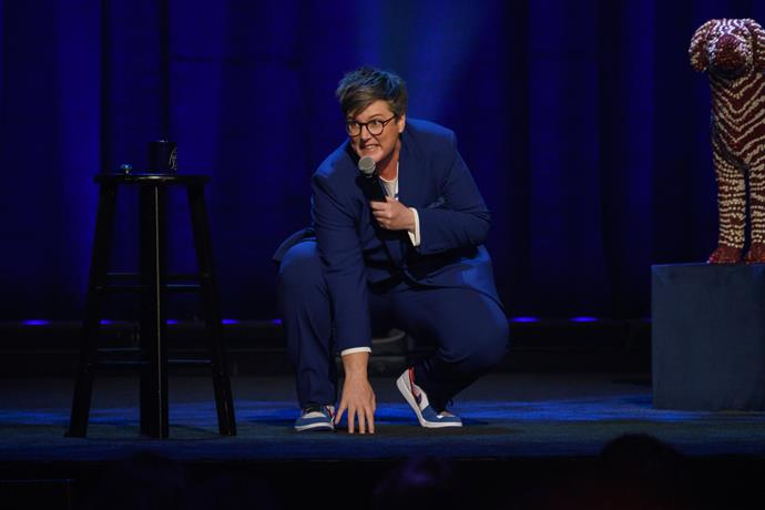 ***Hannah Gadsby: Douglas*** **(26/5/2020)**<br><br>  Emmy and Peabody award-winning comedian Hannah Gadsby stopped the comedy world in its tracks with her genre bending show, *Nanette*. Having given herself her very own tough act to follow, she named her difficult second album after her eldest dog and took it for a walk across the planet, finishing up in Los Angeles and recording her second Netflix comedy special, *Hannah Gadbsy: Douglas*. You can expect your expectations to be set and met by Douglas: a tour from the dog park to the renaissance and back guided by one of comedy's most sparkling and surprising minds.