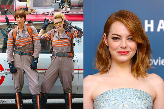Emma Stone revealed in an interview that she was offered a part in the blockbuster remake of <em>Ghostbusters</em>, but she turned it down.