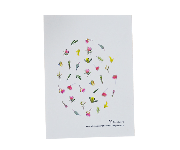 """**Native Australian Flora Nail Decals by Nails By Nature, $10 at [Etsy](https://www.etsy.com/au/listing/693789804/native-australian-flora-nail-decals?ga_order=most_relevant&ga_search_type=all&ga_view_type=gallery&ga_search_query=nail+decal&ref=sr_gallery-1-32&organic_search_click=1&frs=1 target=""""_blank"""" rel=""""nofollow"""")**<br></br> Engage your patriotic spirit nail art style with these Australian flora-inspired designs. The bright pinks, yellows and greens are bound to look striking against a crisp white polish, but hey, the world's your oyster."""