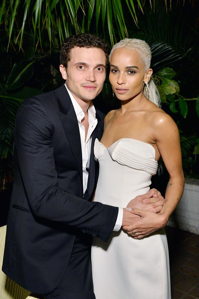 **Zoë Kravtiz and Karl Gusman** <br><br> While the newlyweds typically steer clear of the spotlight, it is safe to say that they were made for it. Mastering the fine art of colour blocking, the couple certainly never disappoint when it comes to keeping outfits chic and effortless.