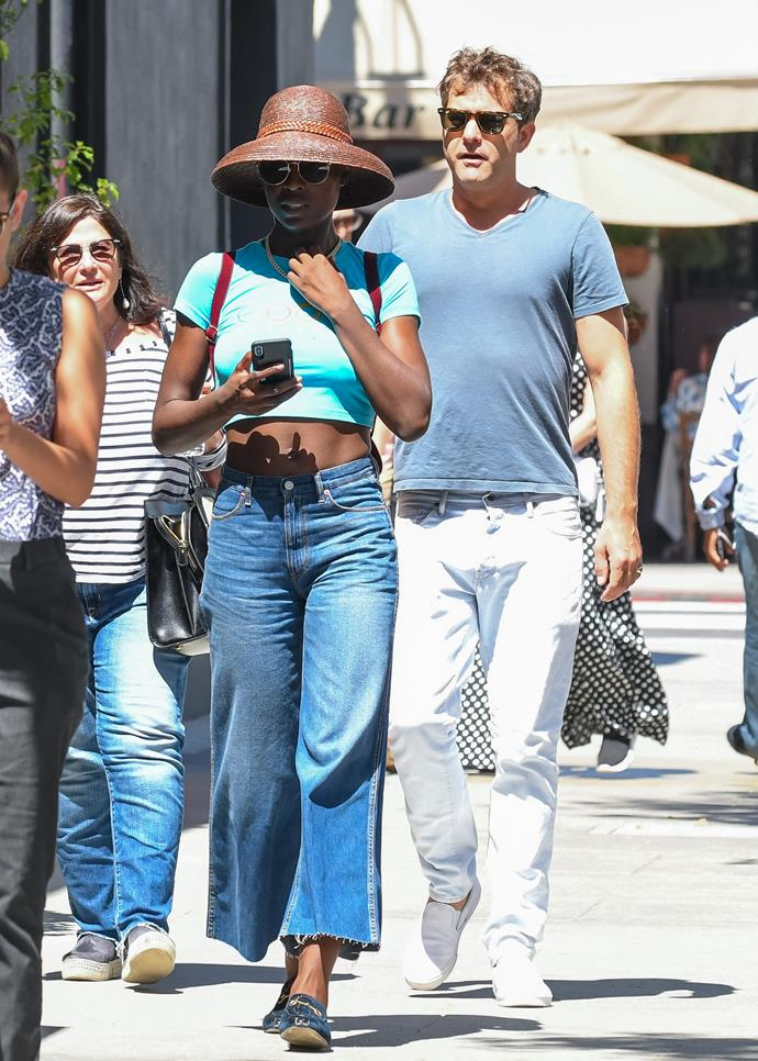 **Joshua Jackson and Jodie Turner** <br><br> While the couple typically remain off the radar, the new parents aren't afraid of a twinning moment. Sporting matching jeans and t-shirts, the pair keep it cool in tonal shades of blue.