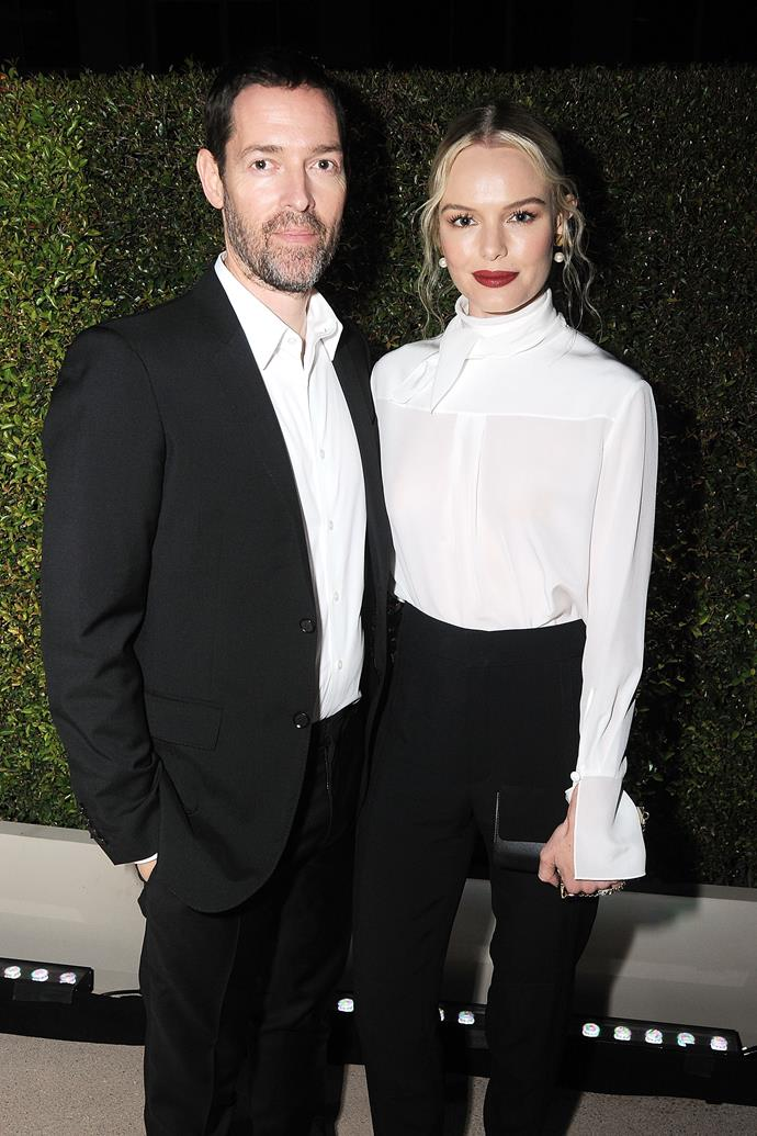 **Kate Bosworth and Michael Polish** <br><br> Kate Bosworth and Michael Polish could teach a masterclass in monochromatic dressing. Providing some contrast with a red lip, the pair definitely know how to pair up perfectly.