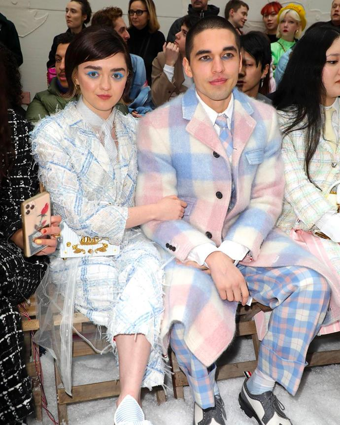 **Maisie Williams and Reuben Selby**  <br><br> While the *Game Of Thrones* star and her entrepeneur boyfriend have reportedly been together since February 2019, the pair's 'couple style' is getting stronger by the second. Sporting matching pastel-hued Thom Browne suits during Paris Fashion Week this year, the couple have truly mastered the craft.