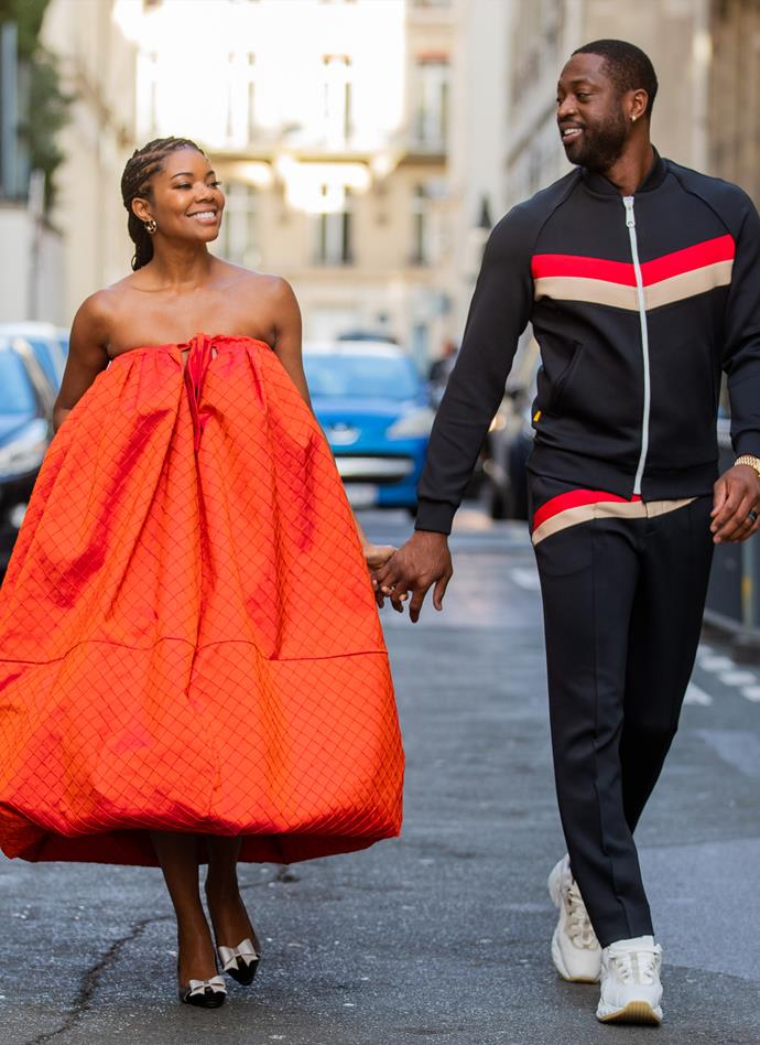 **Dwayne Wade and Gabrielle Union** <br><br> Glancing back at their sartorial CV, it's clear Wade and Union certainly aren't afraid of some colour, wearing matching bright orange shades at Paris Fashion Week this year.