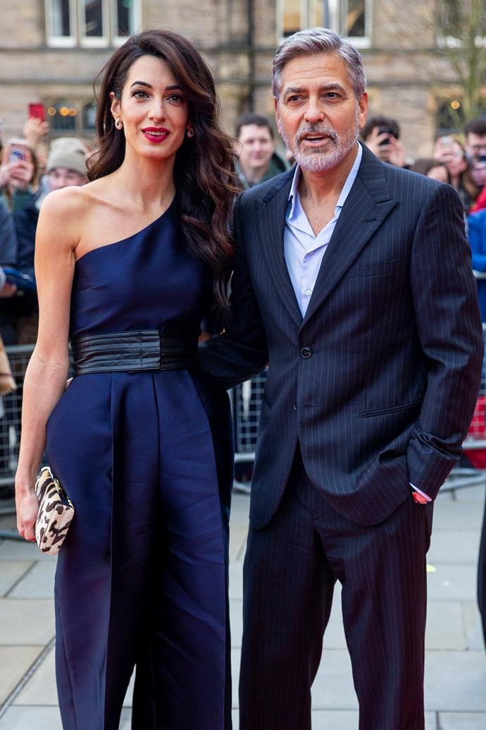 **Amal and George Clooney** <br><br> As if the Clooneys could get any more glamorous? In coordinated navy ensembles, the couple prove that matching doesn't have to be twee. Despite typically remaining under the radar, the pair always seem to find a way to keep us waiting with bated breath for their next outfit reveal.