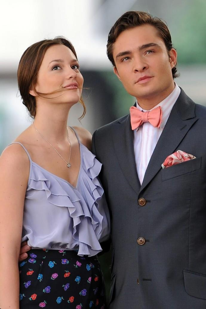 **Chuck and Blair from** ***Gossip Girl***<br><br>  Do not @ us, you know it's true: Chuck and Blair were pretty darn bad for one another for a *very* long time. Frankly, as individuals they were both quite devious (and in Chuck's case, downright creepy) at the beginning, as well as being highly self-serving and generally terrible people. Of course, they had the kind of electricity that could power a small nation, and no teen TV drama is complete without that, so we all kind of forgave them. At least, by the end, they redeemed themselves (we might be reaching, but we're fine with that).