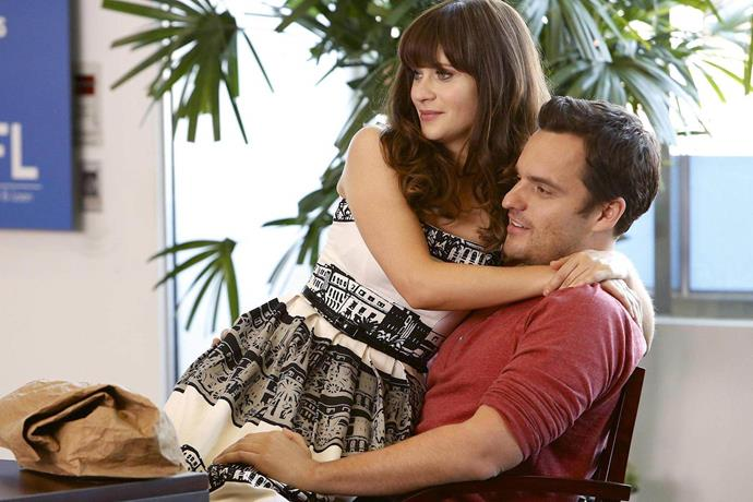 """**Nick and Jess from** ***New Girl***<br><br>  Okay, we'll admit, Jess and Nick had some very cute relationship-y moments on *New Girl*, but let's be real... they were also better off as friends! Unfortunately, the [pairing lost its razzle dazzle](https://www.vulture.com/2013/10/nick-and-jess-relationship-isnt-working.html