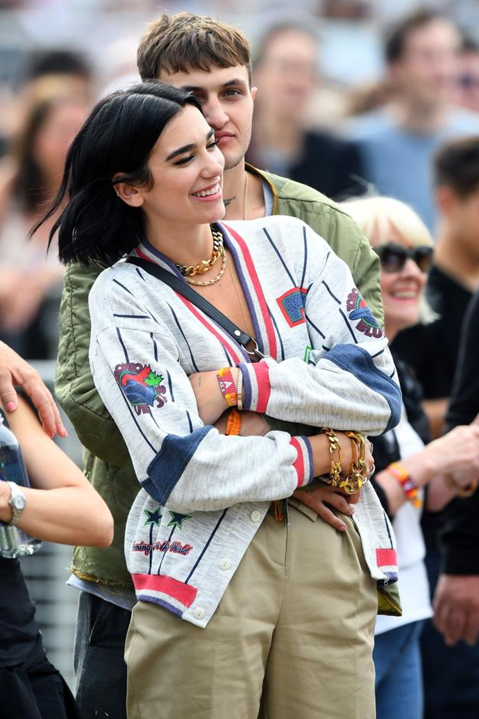 Lipa And Hadid At The 'British Summer Time Hyde Park' Music Festival In 2019. *GETTY*
