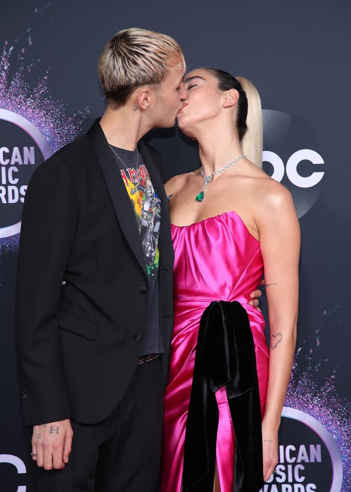 Hadid And Lipa At The 'American Music Awards' In Los Angeles in November 2019. *GETTY*