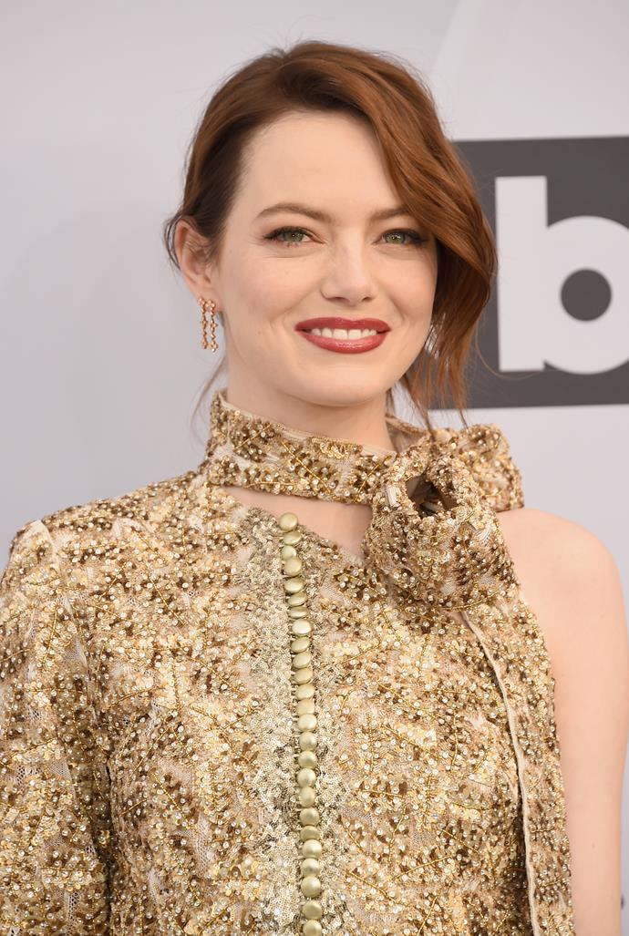"**Emma Stone** <br><br> Having previously revealed her lifelong struggle with anxiety and panic attacks, Stone used her influence to help support others struggling with their mental health during the uncertain time. In a new digital initiative called #WeThriveInside with The Child Mind Institute, Stone shared what methods she uses when coping with any unwanted feelings of extreme stress and anxiety.  <br><br> ""Something I really like to do when I'm struggling with anxiety is a brain dump,"" Stone explained. ""What I do is just write down anything that I'm worried about. I just write and write and write and I don't think about it and I don't read it back. I find it's really, really helpful for me to get it all out on paper."""