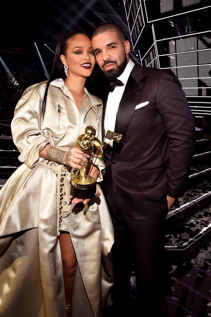 "**Rihanna and Drake** <br><br> Potentially the most notoriously coy relationship was the one between Rihanna and Drake. Following her split from Chris Brown in 2009, she and Drake were spotted together at bowling alley, Lucky Strike. In 2011, [Drake revealed](https://www.elle.com/culture/celebrities/a2465/drake-looks-for-love-608879/|target=""_blank""