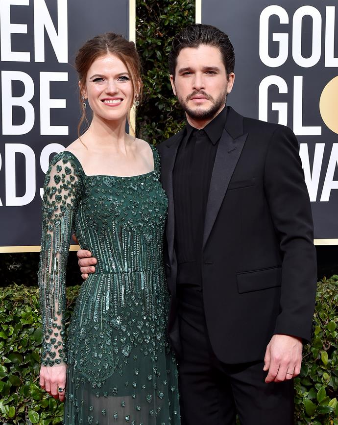 "**Rose Leslie and Kit Harington** <br><br> Famous for their roles in the hit-drama *Game Of Thrones*, these two lovebirds were not only an item in the series, but in real life as well.  <br><br> The pair first sparked dating rumours after meeting on the *Game Of Thrones* set in 2012. Despite never confirming their relationship, the couple supposedly split up in August 2013, with a source stating that Leslie had a ""new boyfriend who was not in the public eye"".  <br><br> However, fate intervened and the pair made their relationship red carpet official in 2016 at the Olivier Awards in London. In September 2017, the pair announced their engagement and were married in a star-studded ceremony in Scotland in June 2018."