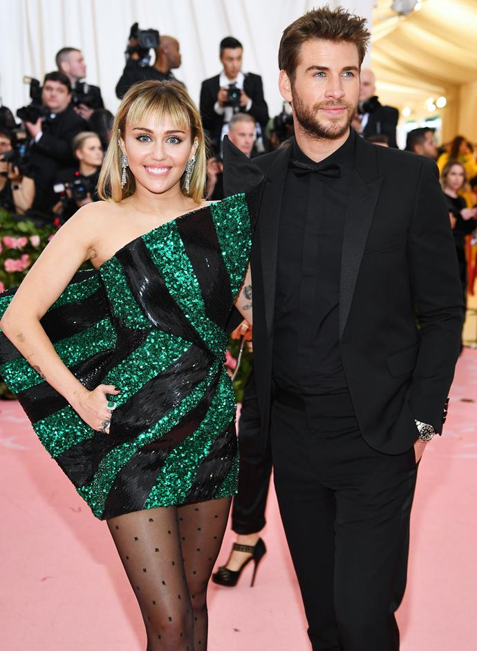 **Miley Cyrus and Liam Hemsworth** <br><br> In what become somewhat of a roller coaster relationship, Cyrus and Hemsworth first met on the set of their 2009 film *The Last Song* and made their official red carpet debut in 2010. The pair confirmed their engagement in June 2012, but by September 2013, the engagement was officially called off.  <br><br> However, the pair got back together and were married in surprise ceremony in December 2018. Unfortunately, the couple weren't meant to last, and were divorced by January 2020. Since then, Cyrus has been in a relationship with Australian singer Cody Simpson and Hemsworth is rumoured to be dating model Gabriella Brooks.